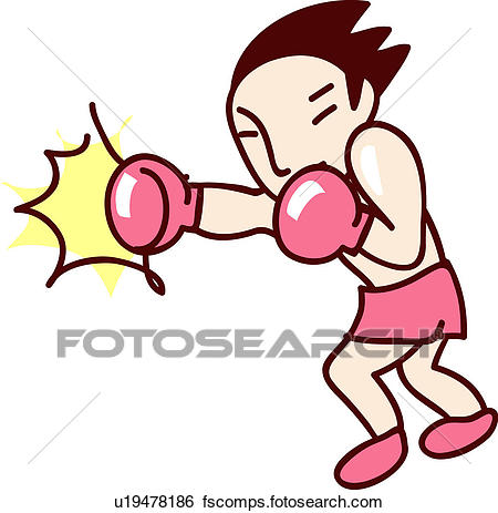 450x463 Clip Art Of Fighter, Player, Punching, Boxing Glove, Glove, Sports
