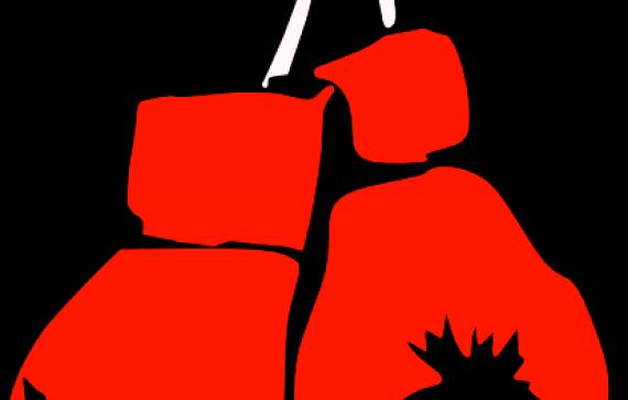 570x363 Boxer Clipart Kickboxing Glove