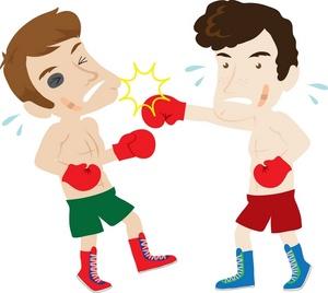 300x268 Boxing Clip Art