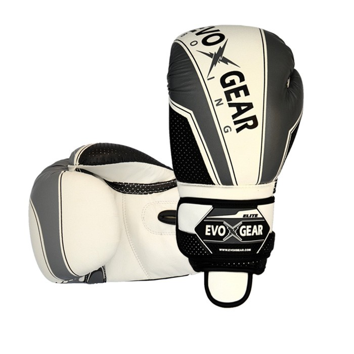 700x700 Evoxgear Elite Boxing Glove Gray 14oz, High Quality Boxing Gloves