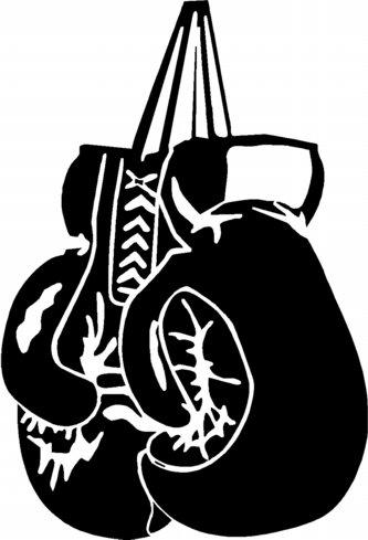 333x489 Black Boxing Gloves Clipart