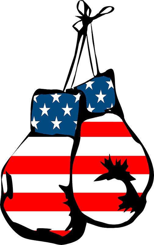 505x800 Usa Boxing Gloves Stickers Stickers By Imagemonkey Redbubble