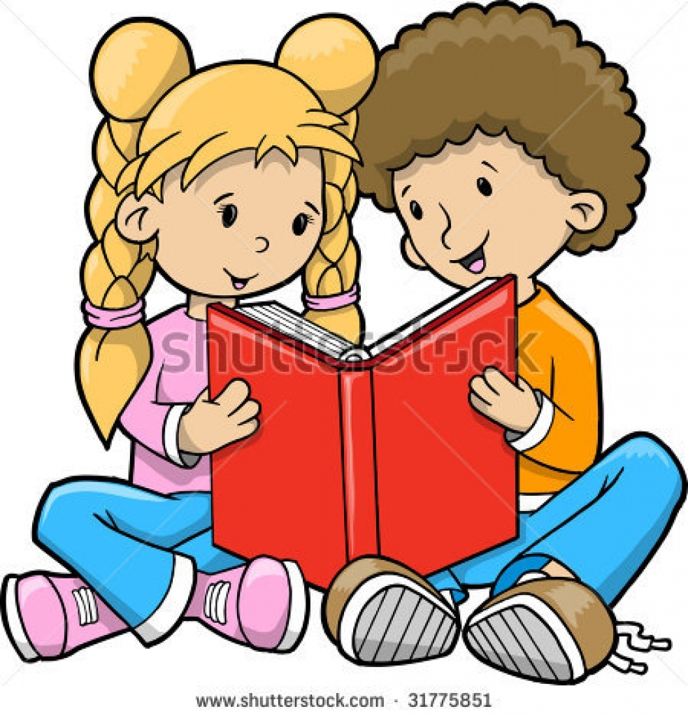 Boy And Girl Reading Clipart Free Download Best Boy And Girl
