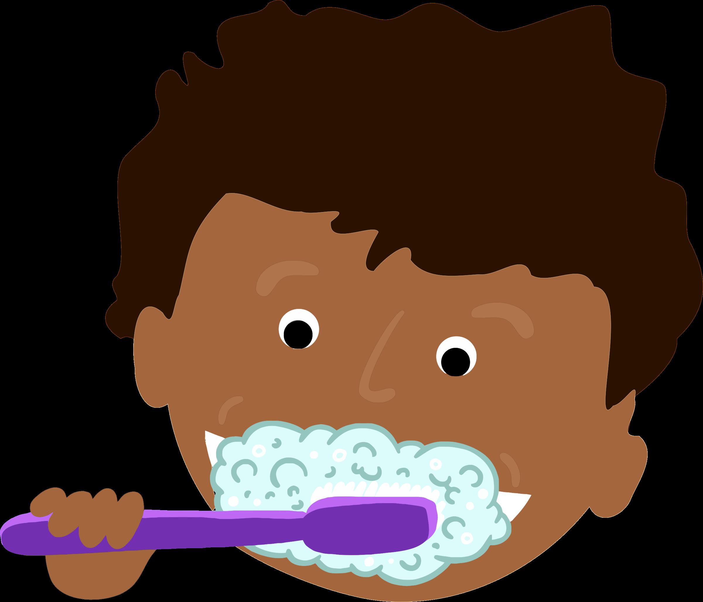 2400x2058 Brush Teeth Clipart African Kid Brushing Teeth