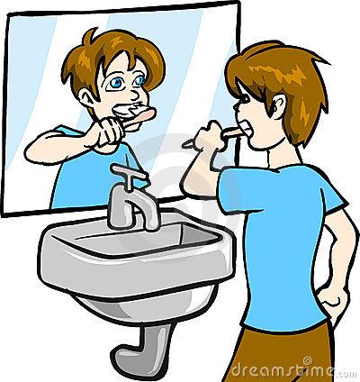 400x424 Brush Teeth Man Brushing Teeth Clipart