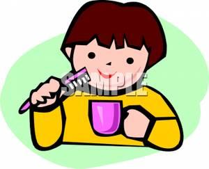 300x243 Boy Brushing His Teeth