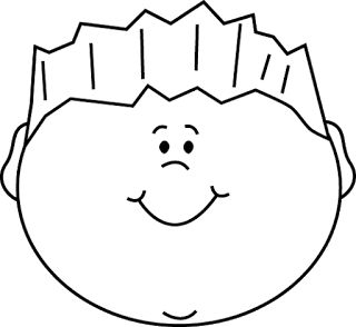 Boy Face Clipart Black And White