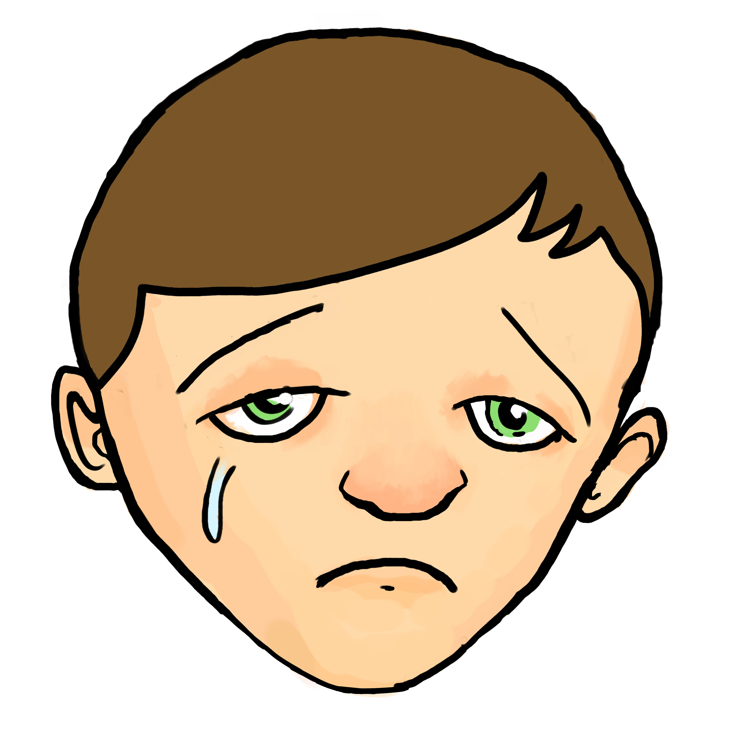 2480x2501 Cartoon Sad Boy Face Drawing Cartoon Boy Sad Face Drawing