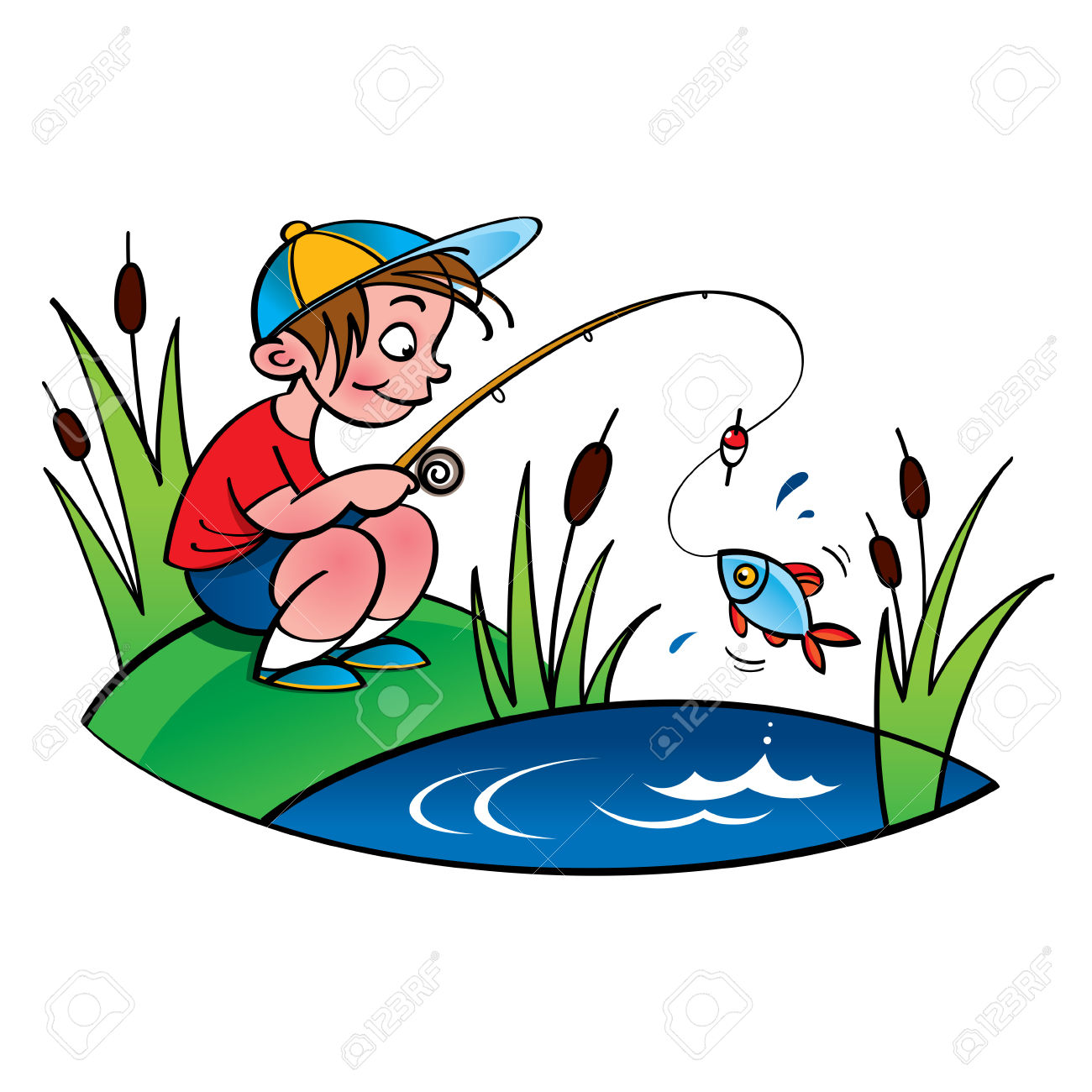 1300x1300 Little Boy Clipart Fishing