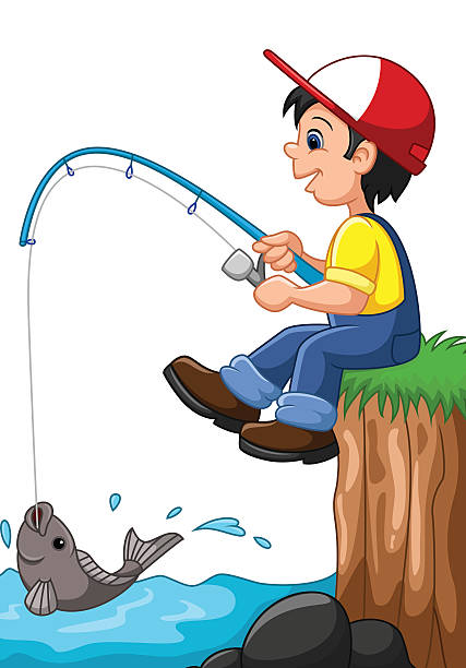 427x612 Young Boy Fishing Pole Clipart, Explore Pictures