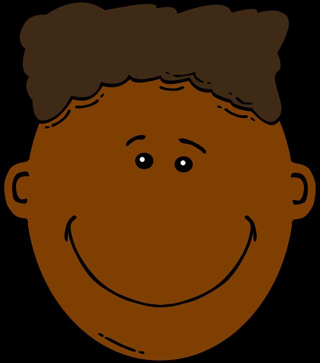635x720 Brown Hair Clipart Boy Head