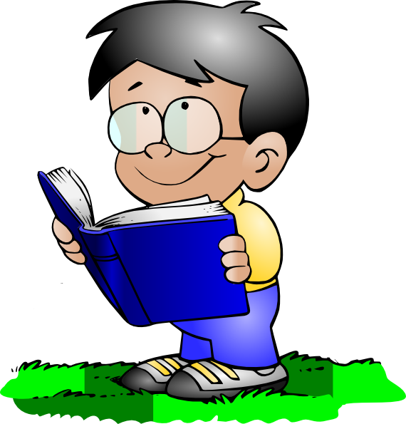 570x595 Boy Reading Clip Art