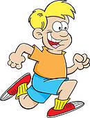 130x170 Clipart Of Cartoon Boy Running K14236932