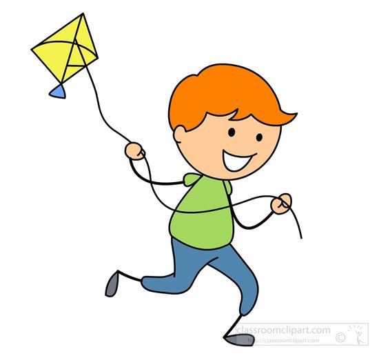 550x516 Kite Clipart Boy Run