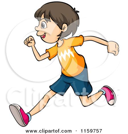 450x470 Run Clipart 1159757 Brunette Boy