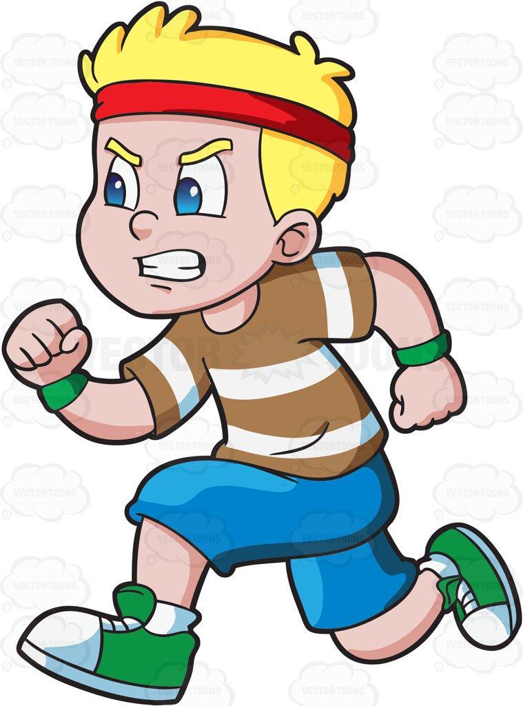 759x1024 A Boy Running Fast To Win An Athletics Race Cartoon Clipart