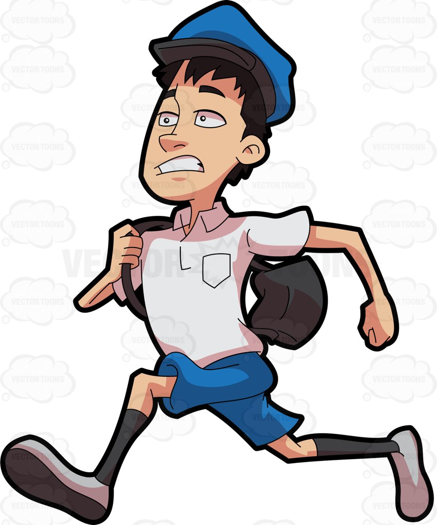 851x1024 A Postal Boy Running To Deliver The Mail