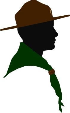 235x375 Boy Scout Silhouette Clipart Free Stock Photo