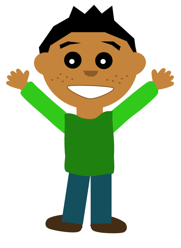 586x800 Free Clipart Happy Guy Scout