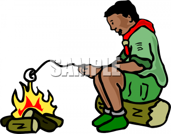350x275 Boy Scout Camping Clipart