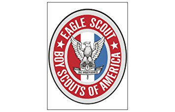 355x227 Eagle Scout Emblem Cake Topper Edible Image Sugar Sheet Cake