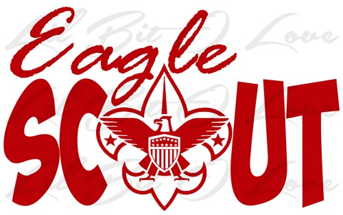 500x313 Eagle Scout Vinyl Decal Sticker Boy Scouts Bsa With Eagle Emblem