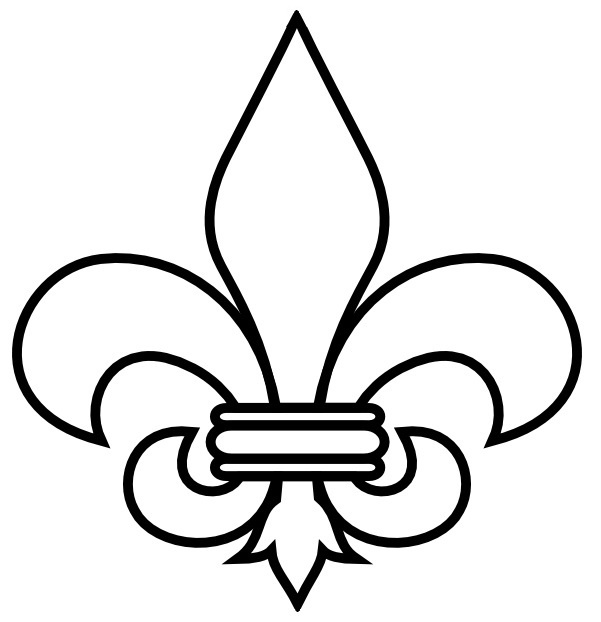 601x622 Black And White Clipart Boyscouts Logo