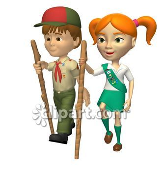 334x350 Boy And Girl Scout Clipart