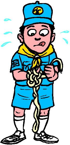 272x563 Free Cartoon Boy Scout Clipart