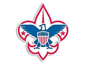300x225 Boy Scouts Rwb Fleur De Lis Sticker Automotive