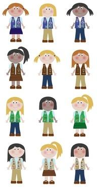 192x370 161 Best Girl Scout Clip Art