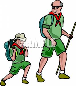 267x300 Hiking Clipart Scouting Activity