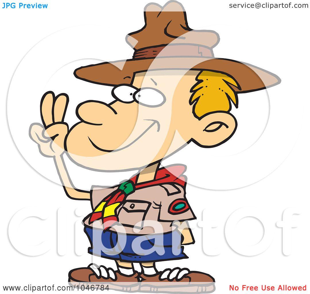 1080x1024 Royalty Free (Rf) Clip Art Illustration Of A Cartoon Boy Scout