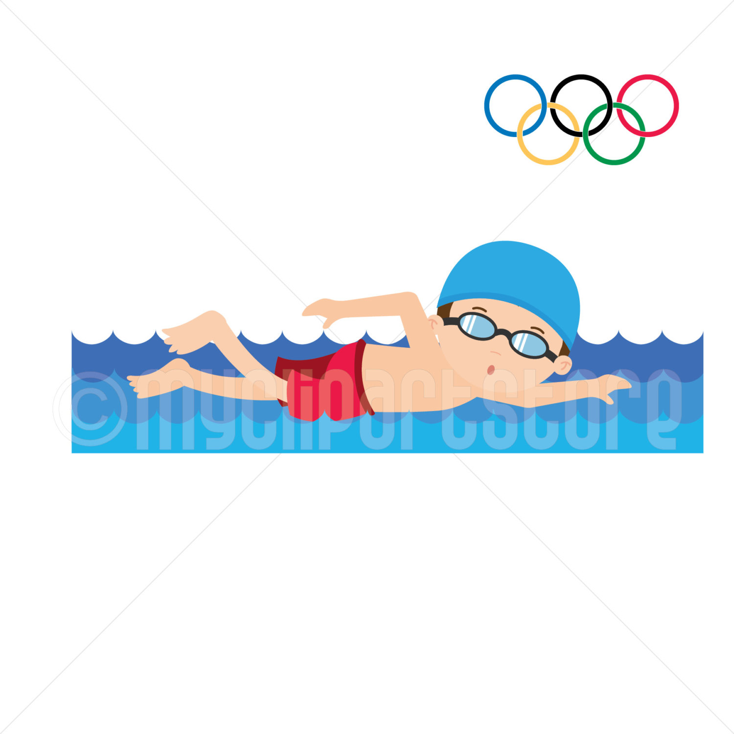 Boy Swimming Clipart | Free download on ClipArtMag