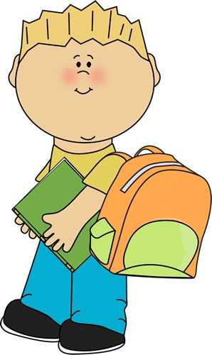 Boy With Book Clipart