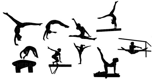518x281 Gymnastics Silhouette Clip Art Schliferaward