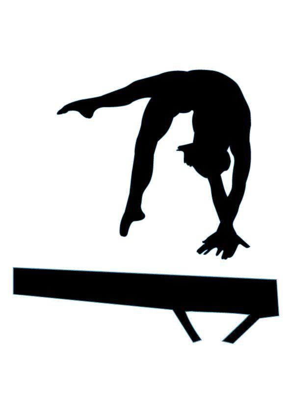 595x842 Gymnastics Silhouettes On Gymnasts Gymnastics And Clip Art