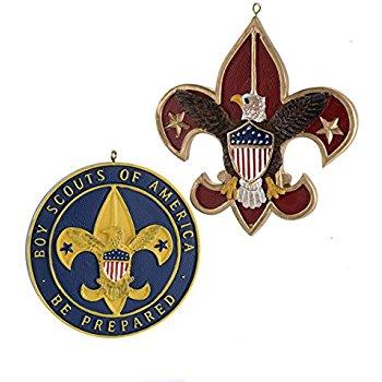 350x350 Flatback Resin Boy Scout Emblem Ornament