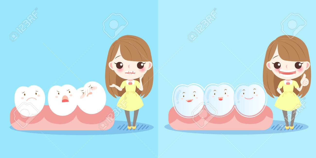 1300x650 Cute Cartoon Girl With Tooth And Brace Royalty Free Cliparts