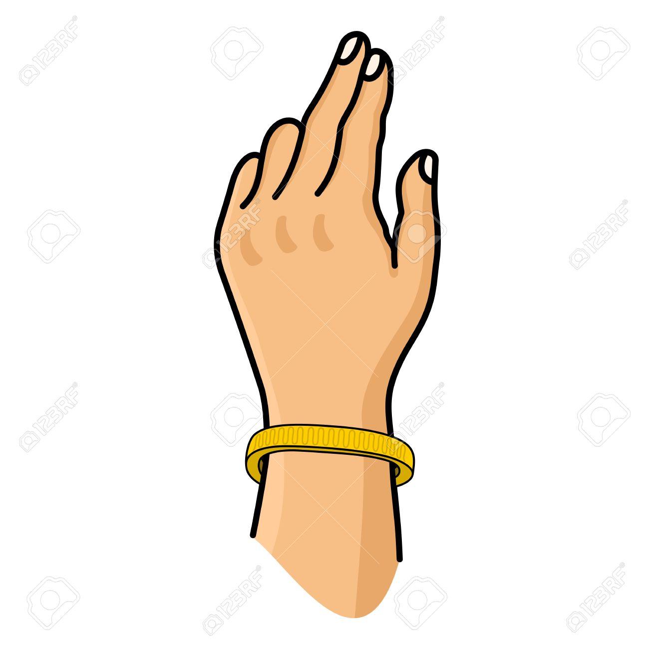 1300x1300 Bracelet On Hand Clipart