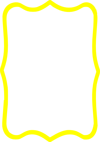 420x596 Yellow Frame Clip Art