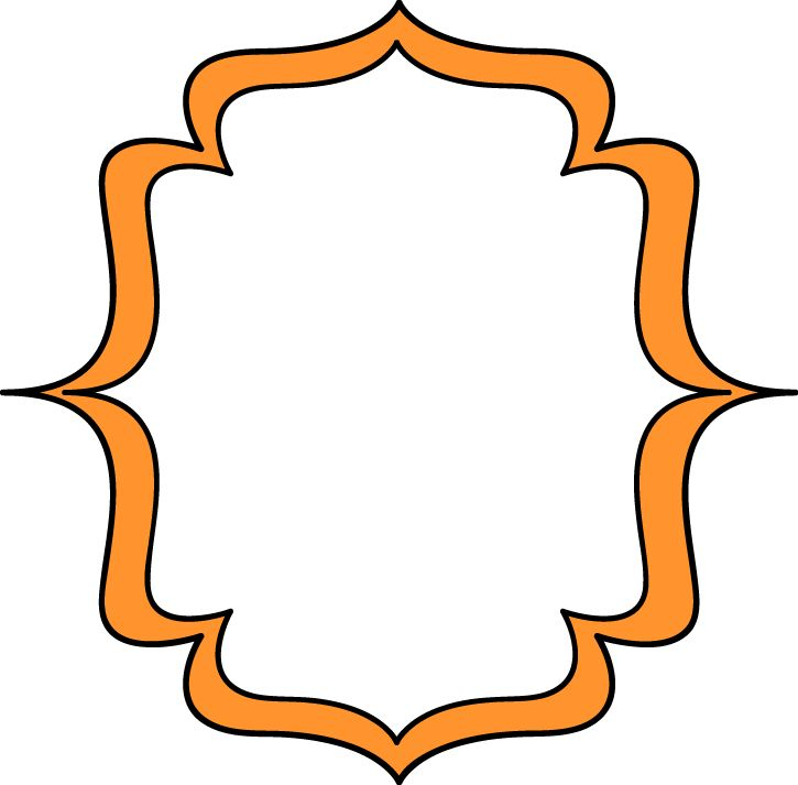 725x713 Orange Clipart Picture Frame