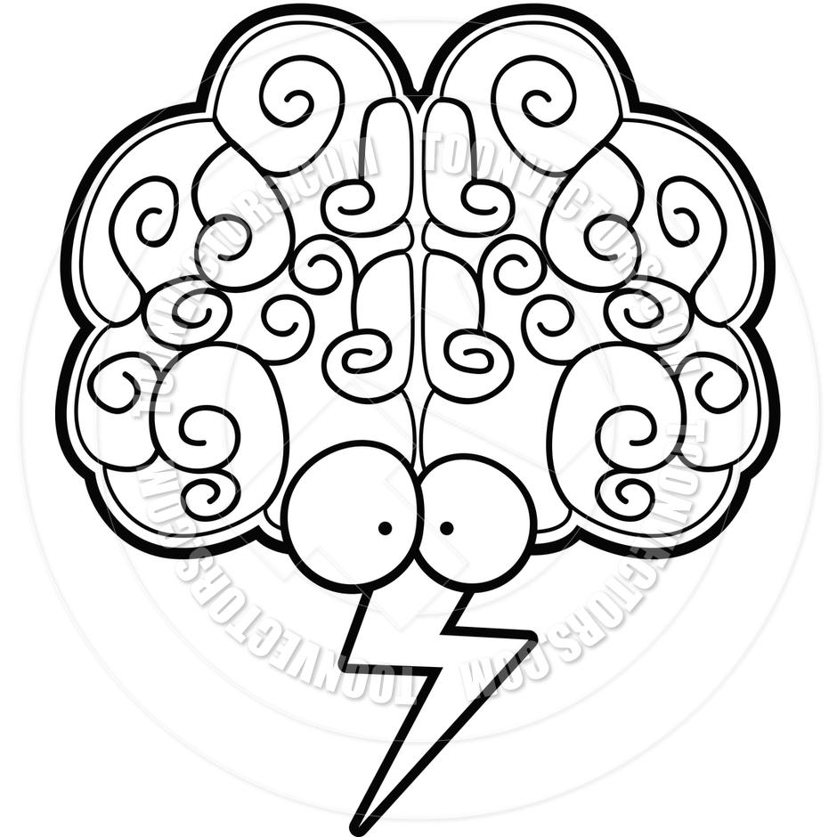 940x940 Brain Storm (Black And White Line Art) By Cory Thoman Toon