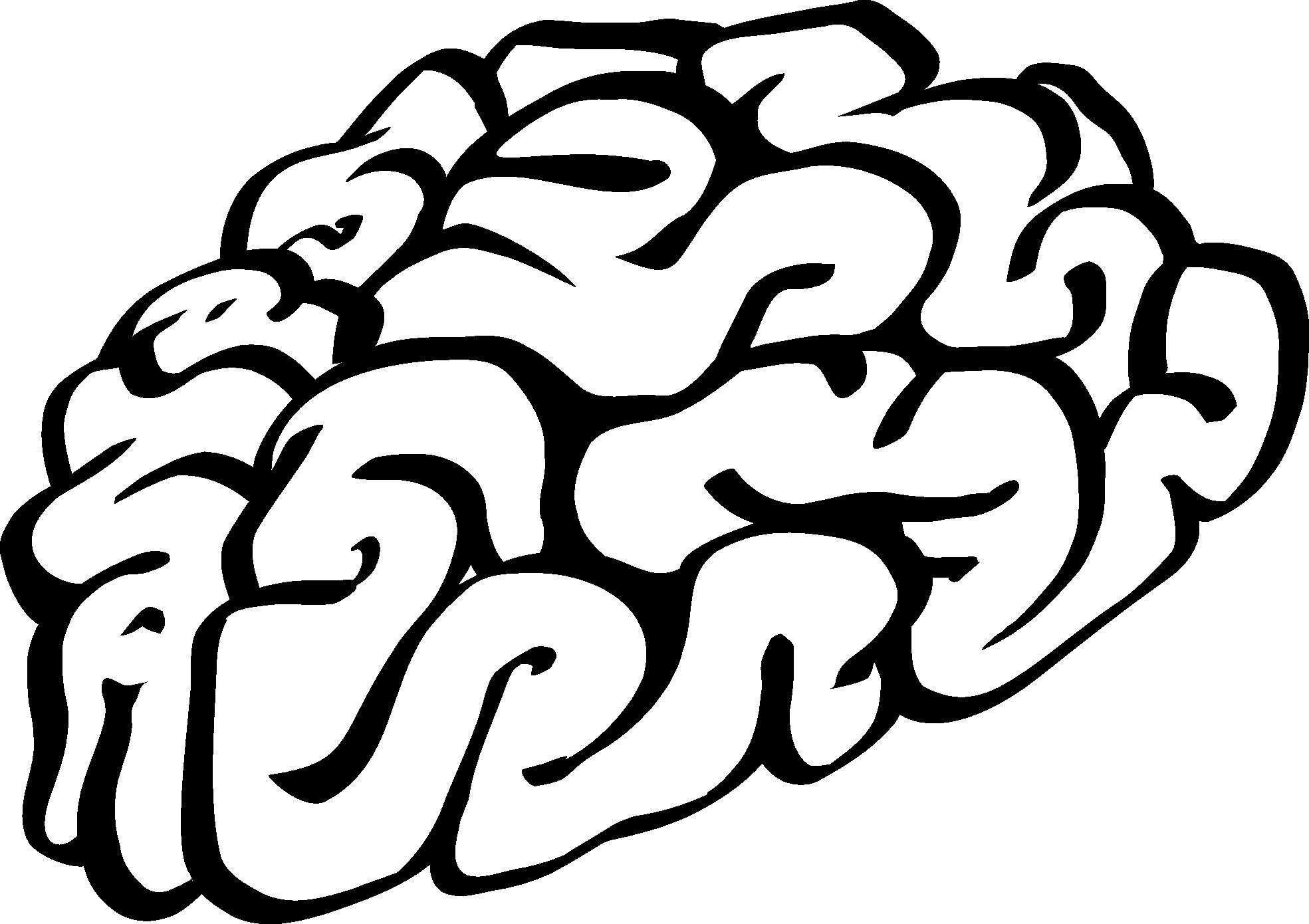 1969x1390 Brain Clip Art Black And White Human Brain Cartoon Of A Black