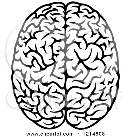 450x470 Royalty Free (Rf) Black And White Brain Clipart, Illustrations