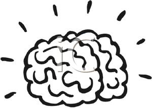 300x214 Thinking Brain Clipart Black And White