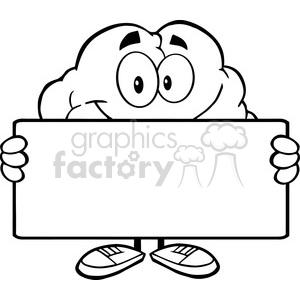 300x300 Royalty Free 5988 Royalty Free Clip Art Brain Cartoon Character