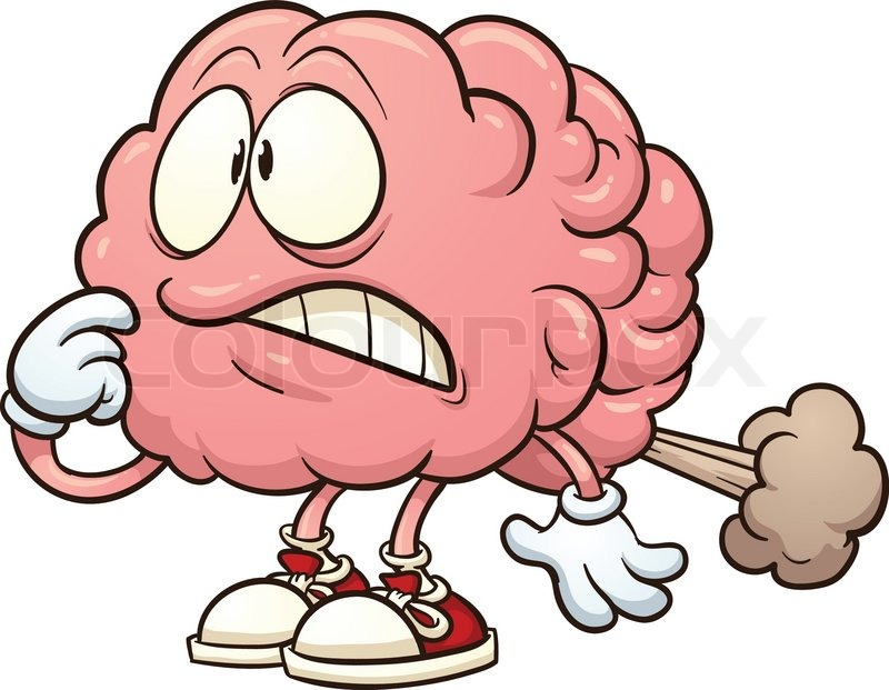 800x621 Cute Brain Exercising. Vector Clip Art Illustration With Simple