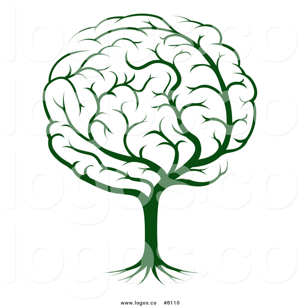 1024x1044 Royalty Free Clip Art Vector Logo Of A Green Tree Brain By
