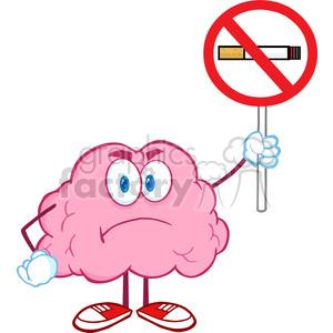 300x300 Royalty Free 5844 Royalty Free Clip Art Angry Brain Cartoon